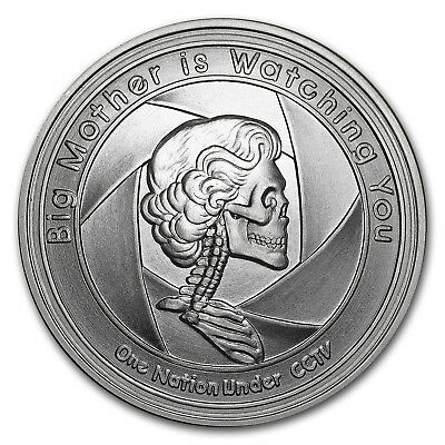BIG MOTHER BU 1 oz .999 SILVER SILVER SHIELD MINI MINTAGE LIMITED 4,550 ROUNDS