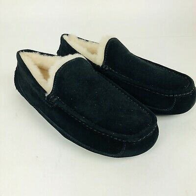 50158cc165c UGG ASCOT NOBLE Suede Wool Slippers Black Size 9 Us - $98.95   PicClick