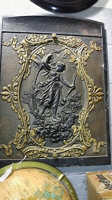Antique cast iron ornate heater cover