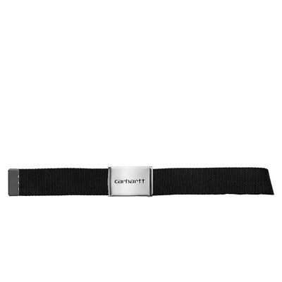 Cintura CARHARTT 'Clip Belt Chrome'. Colore Nero.  I019176