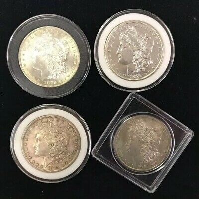 4 Morgan Silver Dollars. Beautiful Condition! 1878-S, 1879-S, 1881-S, 1882-S.