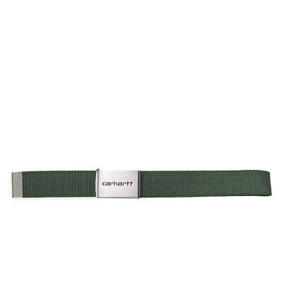 Cintura CARHARTT 'Clip Belt Chrome'. Colore Verdone.  I019176