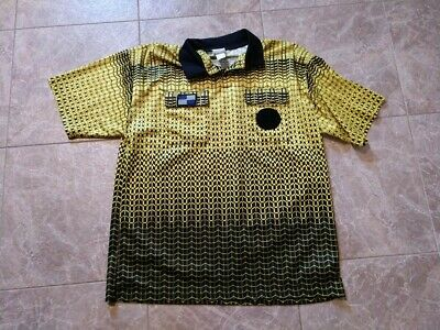 8e8279f65b9 Mens Official Sports NISOA Short Sleeve Referee Jersey-Gold Yellow Size  X-Large