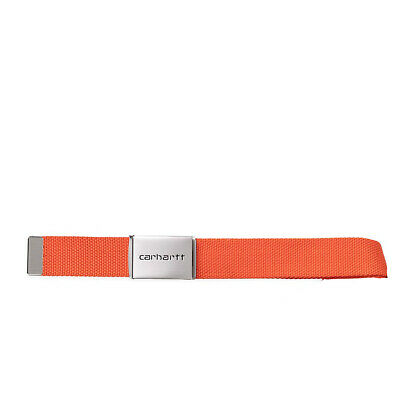 Cintura CARHARTT 'Clip Belt Chrome'. Colore Arancio.  I019176