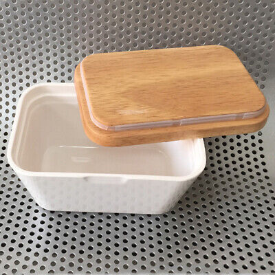 Melamine Butter Dish with Lid Kitchen Organization Storage for Countertop