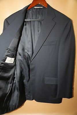 #341 CANALI  Two Button 100% Wool Navy Blazer Jacket Size 40 R
