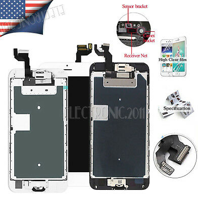 Display LCD Touch Digitizer Complete Button Screen Replacement For iPhone 6 Plus
