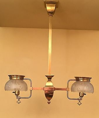 Vintage Lighting circa 1910 converted gas pendant