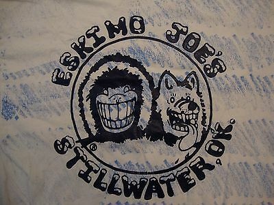 Vintage Eskimo Joe's Sports Bar Stillwater, OK Souvenir 80's Soft T Shirt Size L