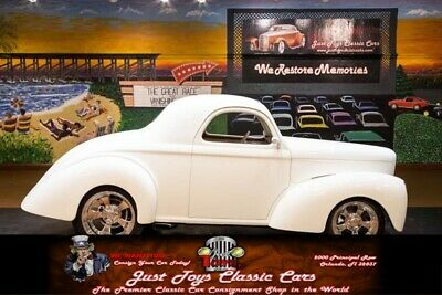 1941 Willys Coupe -- White Willys Coupe with 1,244 Miles available now!