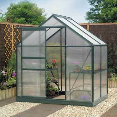 Gardman Greenhouse Aluminium Polycarbonate With Steel Base Free Delivery