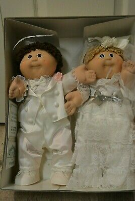 Cabbage Patch Kids Bride & and Groom Dolls CPK Wedding Couple Set Tsukuda Japan