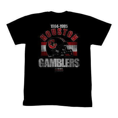 T-Shirts Sizes S-5XL New AuthenticUSFL Houston Gamblers Mens T-Shirt