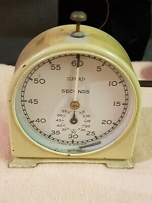 VINTAGE ILFORD SECONDS DARKROOM PROCESS TIMER Photographic WORKING