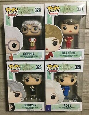 Funko POP Television Golden Girls Dorothy Blanche Sophia Rose Complete Vinyl Set
