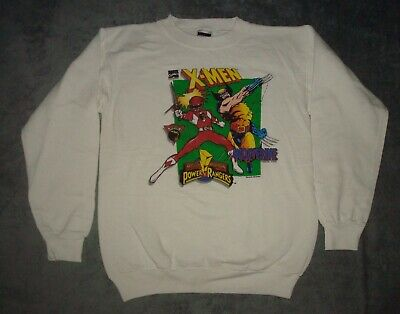 Vtg 1994 Wolverine Might Morphin Power Rangers Sweatshirt Youth Xl Marvel Saban
