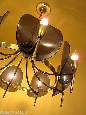 Vintage Lighting dramatic Mid Century chandelier