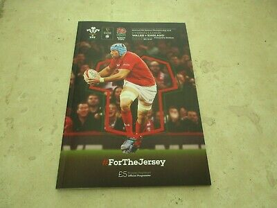 Wales v England Saturday 23rd February 2019 Guinness Six Nations Match Programme