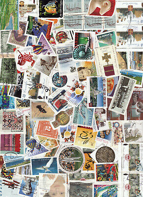 Canada 3000+  -Stamps Big Lot - Old  Used Stamps