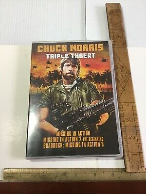 DVD Chuck Norris Triple Threat Missing In Action Set