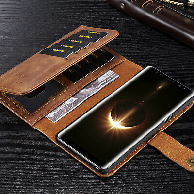 For Samsung S9 Plus Note 9 S8 Case Detachable Magnetic Wallet Leather Flip Cover