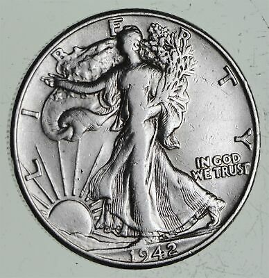 Strong Feather Details - 1942 Walking Liberty Half Dollars - Huge Value *573