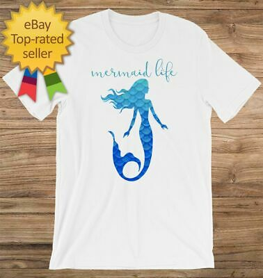 e568a81b7 Mermaid Life Customizable Personalized Gift For Her Gift For Tee T-Shirt  Unisex