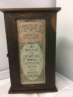 Antique  - Dy-O-La Dyes Cabinet - Australiana Collectable