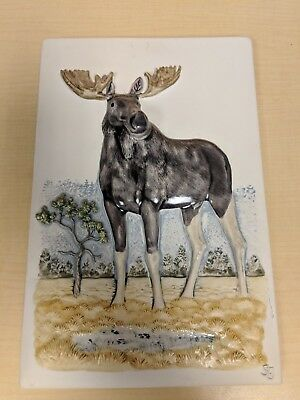 JIE Gantofta Sweden Moose Wall Plaque - Staffan Johnson