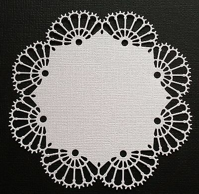 CHOICE OF COLOUR & CARD.. 4 x Doily, Die Cuts , Embellishments, Scrapbooking.