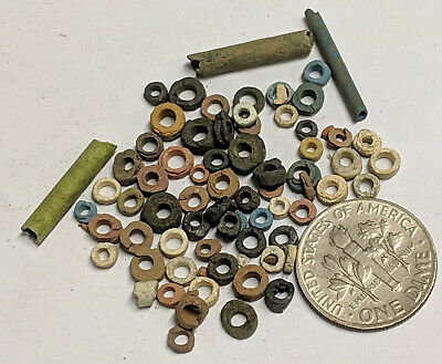 More than Fifty 2500 Year old Ancient Egyptian Faience Mummy Beads (K5716)