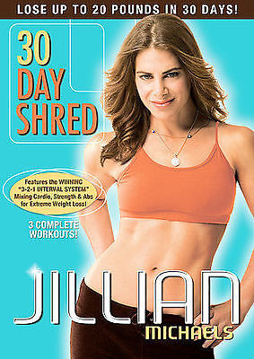 Jillian Michaels 30 Day Shred Exercise DVD New Sealed Workout Fitness