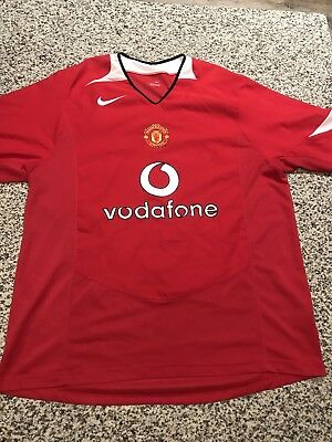 adc2ffce2 MANCHESTER UNITED FC Vodafone Soccer Jersey Red Mens Size Large ...