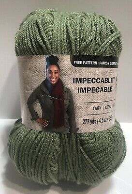 Loops & Threads Impeccable Yarn FOREST # 01243 Acrylic 4.5 oz 4-Med Weight
