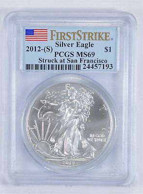 MS69 First Strike 2012-(S) American Silver Eagle - Graded PCGS *018