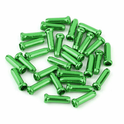 50pcs Bike Bicycle Brake Shifter Inner Cable Tips Wire End Cap Crimps Green T9K2