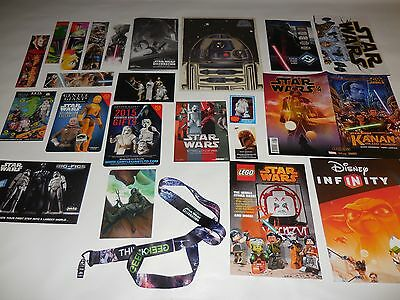 Star Wars CELEBRATION VII & IV PROMO LOT Program Lanyard Postcards Bookmarks