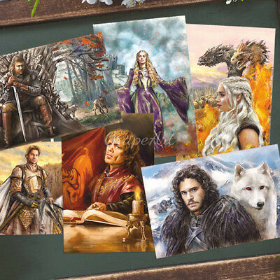 Set of 6 Game of Thrones Postcard Russian Art Unposted Souvenir Postcrossing NEW