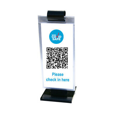 PACK OF 20 Menu Roll® Black Acrylic with 5 DL Pockets