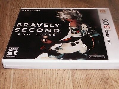 Bravely Second: End Layer (Nintendo 3DS, 2016) w/ Electronic Manual