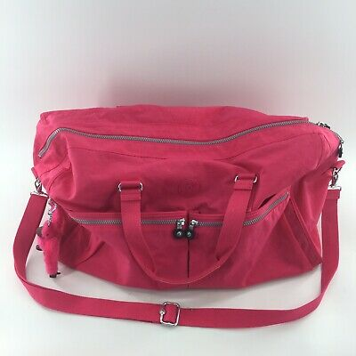 683896e9dcc Kipling Large Tote Shoulder Bag Very Berry Pink Travel Zip Up Ape Monkey  New A3A