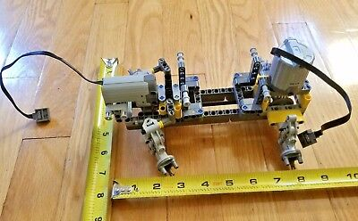 LEGO Technic 4WD Chassis, Front Steering, Rear Differential + motors - new parts