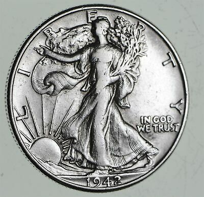 Strong Feather Details - 1942 Walking Liberty Half Dollars - Huge Value *462