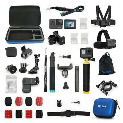 TELESIN Accessories Case 20 in 1 Starter Kit for GoPro Hero 5 6 7 Action Camera