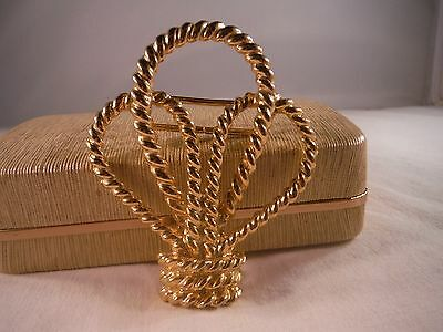 Vintage Mimi Di N Belt Buckle 1984 Royal Crown Gold Tone Mint Cond Jewlery box F