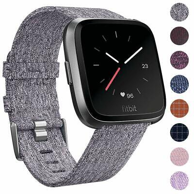 For Fitbit VERSA Strap Replacement FABRIC Woven Watch STRAPS Bands Accessories
