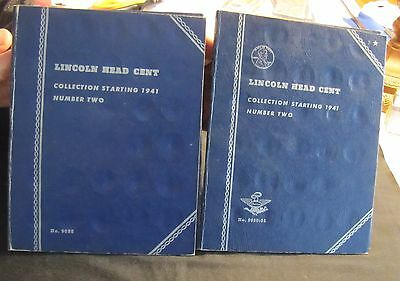 Lot of 2 1941-1970 Lincoln Wheat & Memorial Cent Albums Whitman