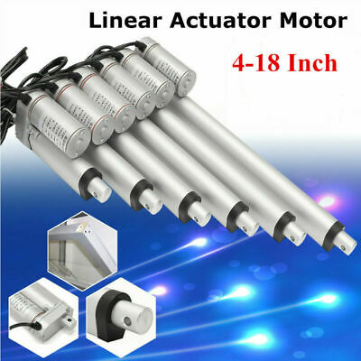 "12V 4""-18"" Linear Actuator Motor High Speed 1500N/330lbs Electric Door Opener US"