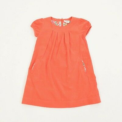 Mini Boden Dress 5-6 Y GIRLS Red-Orange Cotton Corduroy Shift Dress