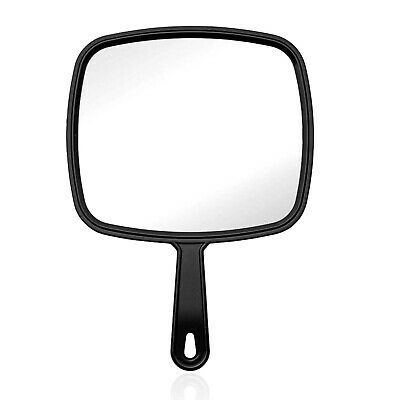 Hand Held Mirror Salon Mirror Large Lady Women Makeup Beauty Cosmetic Red White
